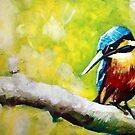 Kingfisher Painting by Samuel Durkin