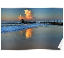 Morning Clouds at Merewether Baths Poster