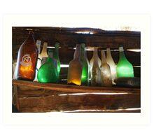 Old Bottles Art Print