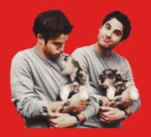 Darren Criss holding a puppy Kids Clothes