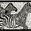 Black and white in a herd by Jean  Burke
