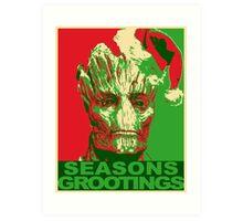 Seasons Grootings Art Print