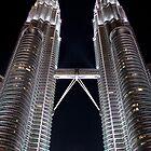 Silver Glow at Night - Kuala Lumpur, Malaysia. by Tiffany Lenoir