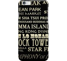 Hong Kong Famous Landmarks iPhone Case/Skin