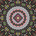 Ornamental round aztec geometric pattern by tomuato