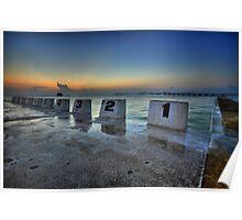 Merewether Ocean Baths at Dawn 1 Poster