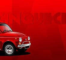Classic Fiat 500 Illustrated mug wrap by RJWautographics