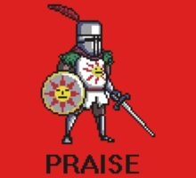 Solaire of Astora PRAISE pixelated by kane112esimo