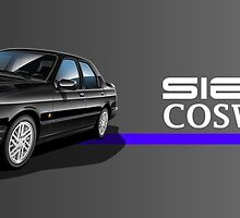 Ford Sierra Cosworth Illustrated Mug wrap by RJWautographics