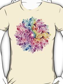 Rainbow Watercolor Paisley Flower T-Shirt