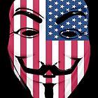 Guy Fawkes American Flag by GrimDork