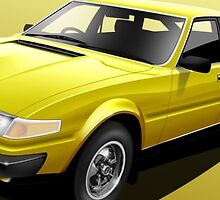 Rover SD1 3500 Illustrated Mug Wrap by RJWautographics