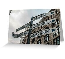 Getting Lost in Boston Greeting Card