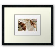 Hands... Framed Print