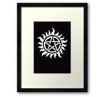 Supernatural Demon Possession Protection [WHITE] Framed Print