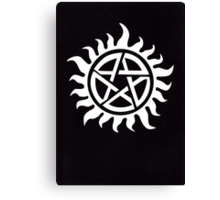 Supernatural - Demon Possession Protection [WHITE] Canvas Print