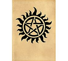 Supernatural - Demon Possession Protection [BLACK] Photographic Print