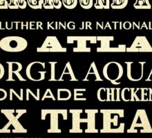 Atlanta Georgia Famous Landmarks Sticker
