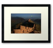 Moonrise over the Great Wall Framed Print