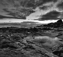 Emerald Beach (black & white) by Mark Snelson