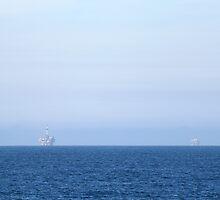 Two Oil Rigs by Henrik Lehnerer