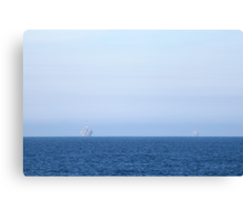 Two Oil Rigs Canvas Print