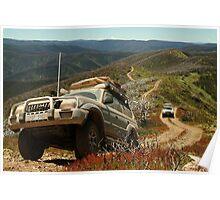 Mountain Driving, Blue Rag Range Poster