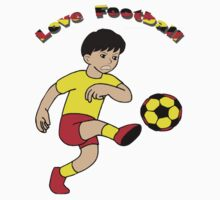 Love football - Kids Clothing & Stickers+Pillows & Totes+Phone Cases+Laptop Skins by haya1812