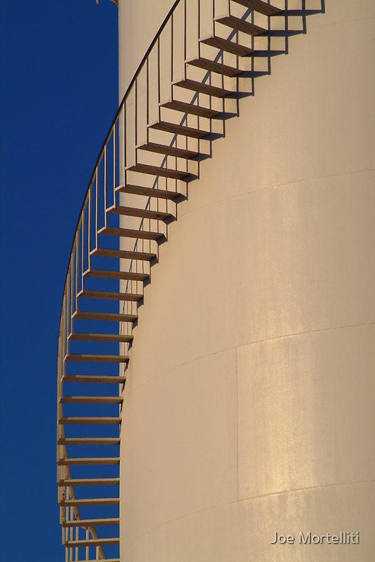 Shadows,Industrial Storage Tank by Joe Mortelliti