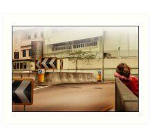 Bored Intersection Art Print