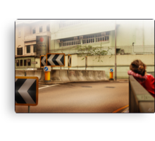 Bored Intersection Canvas Print