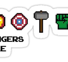 Avengers Assemble 8-bit Sticker