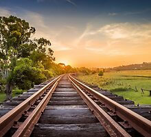 Disused railway track by Tam Church