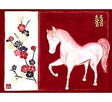 'PEACH BLOSSOM HORSE' Photographic Print