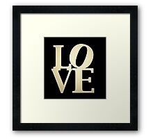 Love Park Philadelphia Sign Framed Print