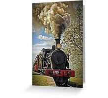 Loco 2705 - Through Train at Bargo River Road Greeting Card