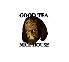 Worf. Likes your tea. And your house. by michelofya