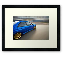Blue Subaru Impreza WRX rig shot Framed Print