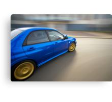 Blue Subaru Impreza WRX rig shot Canvas Print