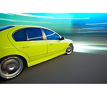 Ford BA XR6 at night Photographic Print