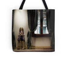 Venice curtains vs hand held video game Tote Bag