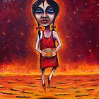 &quot;Summer&quot; (Red Dust Girl series) Oil on Canvas by Leith