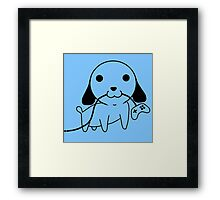 Gamepad Puppy Framed Print