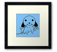 Gamepad Puppy Framed Print