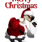 Silly Santa Goose by Gravityx9