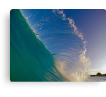 Hawaii Shore Breaking Flare Canvas Print