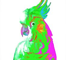 7 DAYS OF SUMMER- COCKATOO ART IN GREEN AND PINK by 7 days of Summer