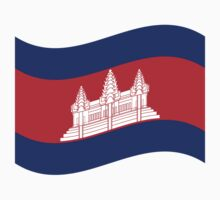 Cambodian Khmer Flag Wave by iloveisaan