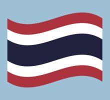 Thai Flag Wave by iloveisaan