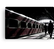 Strangers On A Train.... Canvas Print